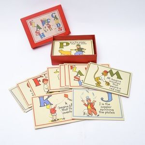 Vintage inspired ABC flash cards by Cavallini & Co